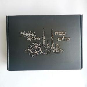 Shabbat Shalom Corrugated Challah Box 9x6x2.75