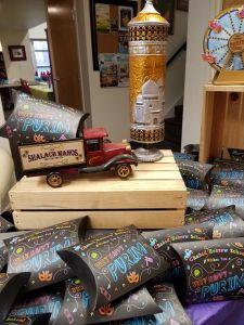 FILLED Hebrew School Purim Shaloch Manos Pillow Box