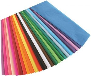 50 Sheets Hygloss Bleeding Tissue Paper Multi-Color Assortment