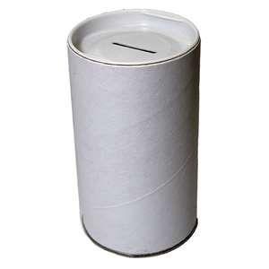 Cardboard Blank White Tzedaka Pushka to Decorate 3x6 - ONLY SHIP