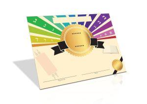 Hebrew School, Camp Gan Israel, Preschool, School Award, Kid's Torah Certificate