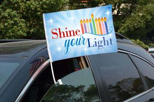 Chanukah Car Flag (Shine your Light)