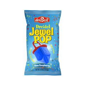 Individually wrapped Dreidel Shaped Pop Candy for Chanukah - Blue Raspberry