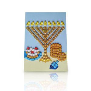 Foam Mosaic Chanukah Activity - Menorah