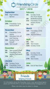 Friendship Circle Event Calendar Design