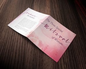 3 Mitzvos Brochure for Women