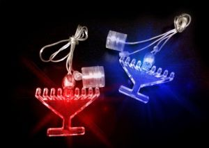 LED Light Up Chanukah Menorah Necklace or Decoration