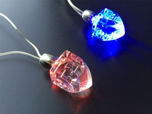 LED Light Up Dreidel Necklace or Decoration