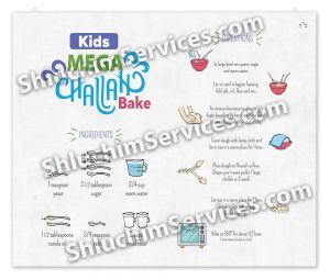Kids Challah Bake Laminated Mat w Recipe