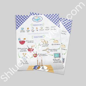 Mega Challah Bake Recipe Card Design