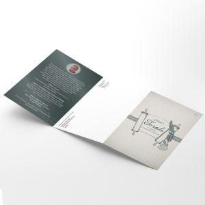 Siyum Sefer Torah Tri-fold Self Mailer Design