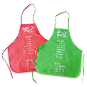 Nonwoven Kids Aprons with Recipe