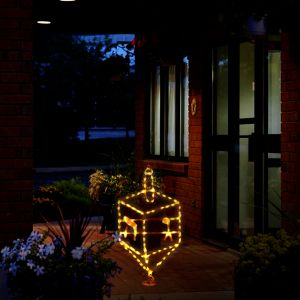 Outdoor Dreidel Light Up Display - 2.5 Feet