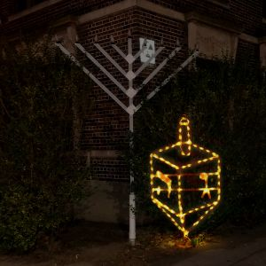 Outdoor Dreidel Light Up Display - 3.5 Feet