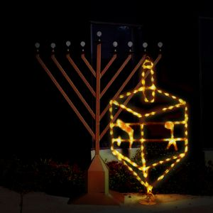 Outdoor Dreidel Light Up Display - 5 Feet