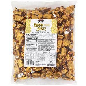 2lb Bag Gold Sour Strawberry Taffies