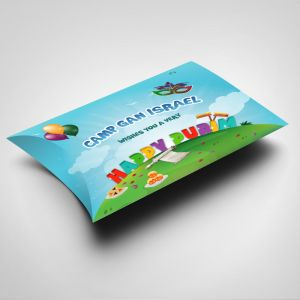 Camp Gan Israel Purim Shaloch Manos Pillow Box  - MAIL OR GIVE! Filled or Empty