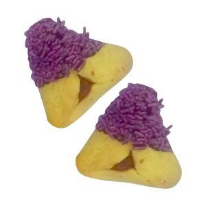 Purple Sprinkle Hamantashen - Indiv. wrapped
