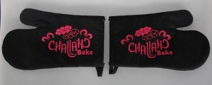 Black Challah Bake Oven Mitts