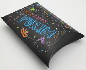 Hebrew School Purim Shaloch Manos Pillow Box - MAIL OR GIVE! Filled or Empty