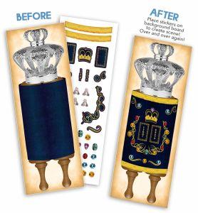 Reusable Torah Sticker Scene - ALLOWED ON YOM TOV!
