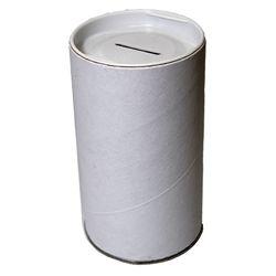 Cardboard Blank White Tzedaka Pushka to Decorate 3x5 - ONLY SHIP