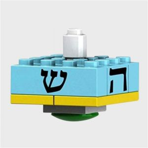 Build Your Own Lego-like Blue Dreidel