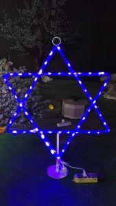 Outdoor Magen Dovid Star of David Light Up Display  - 2.5 Feet