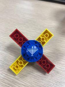 Build Your Own Larger Lego-Like Dreidel Fidget Spinner