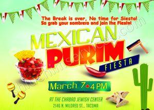 Mexican Purim Postcard Design