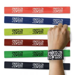 Assorted Colors Proud 2B Jewish Slapbands