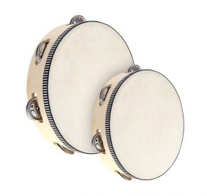 Wooden Tambourines with sheepskin drum head
