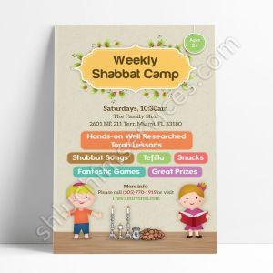 Weekly Shabbat Camp Postcard Design